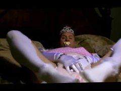 diapered sissybaby princess triple diaper on webcam