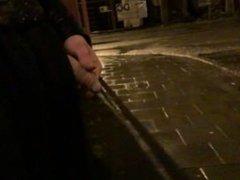 pee in public at night