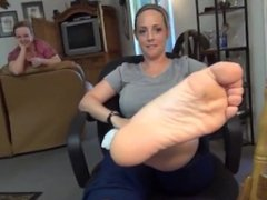 Woman Shows Off Her Soles