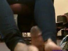 ebony footjob (UF)