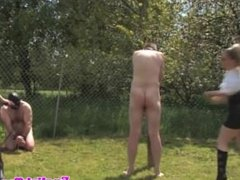 BDSM dominas whipping pointless submissive outdoors