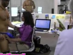 Office amateur cocksucking at party