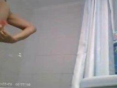 mature busty shower