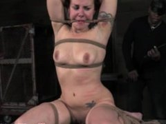 Boxtied submissive being humiliated by kinky maledom