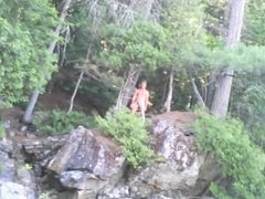 Forest voyeur jerking off #9