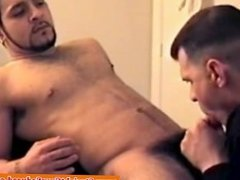 Straight dude sucked off by his gay friend