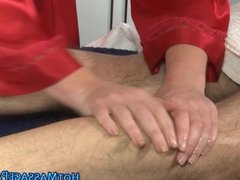 Masseuse redhead sucks