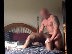 Married Straight Muscle Construction Guy Cums In Black Twink