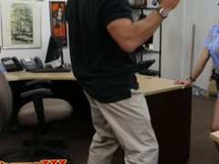 Latina pawnshop police amateur shows ass off