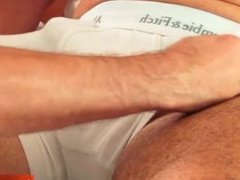 Full video: A nice innocent mature guy serviced his big cock by a guy!