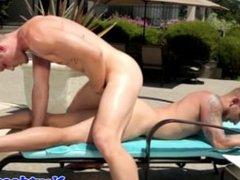 Gaysex athletic stud fucking outdoors