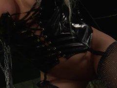 Blonde dominatrix uses sex slave stud for her fucking pleasure