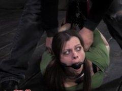 BDSM sub getting hogtied and gagged
