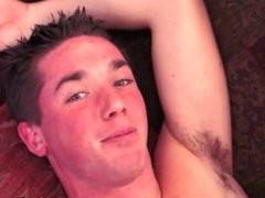 Straight twink amateur cums from buttsex