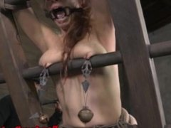 BDSM submissive spanked red raw