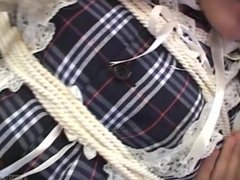 Subtitles Japanese schoolgirl bound as doll