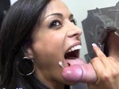 Exotic amateur babe loves glory hole