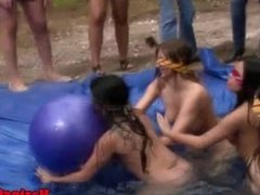 Sorority freshie lezbo outdoor being humiliated