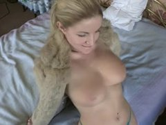 Busty Blonde on bed (Anyone know her Name?)