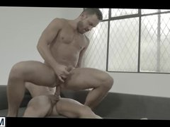 Two horny dudes Brent and Logan enjoy in rough anal sex