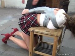 School girl duct taped and gagged by woman