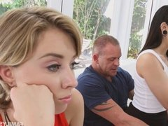 Malina wakes up her stepdad with a blowjob
