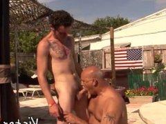 Clark Kent and Jake Edwards enjoying outdoor sex