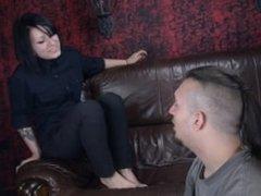 goth girl feet domination