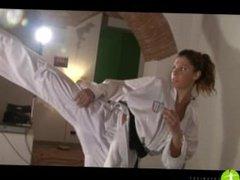 High Kick Secretary vs Her Boss - Sparring Match