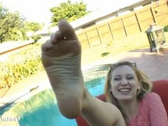 Jayden Rae Pool Footjob