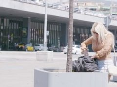 BitchesAbroad - Dirty Blondie Fesser getting her pussy fucked doggy style