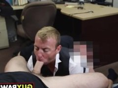 Groom to be gets some man to man action with two other dudes