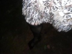 Outdoor in my new dress, walking to my man