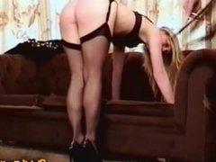British Blonde Spanked & Paddled
