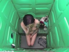 Porta Gloryhole Milf sucks cock in parking lo