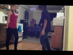 step sister kicking balls