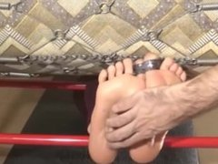 Slave girl Princess Jasmine feet tickling in stock No mercy this time