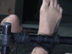Japanese Bondage with sexy foot play.