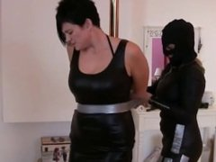 Two girls duct taped and gagged by villain girl