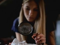 Anjelica confidential investigation in pantyhose piss video