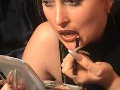 lipstick smearing lesbian kiss 3