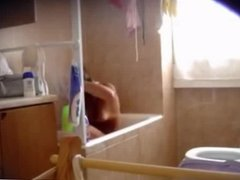 hidden spy shower tanlines