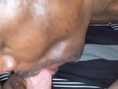 Black cocksucker sucks polish chef's cock