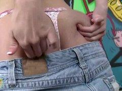 Blonde Kelly Klass Jerking Off a Cock