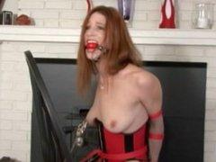 Bondage Redhead Corset Orgasm