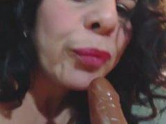 amazing ass latina milf camgirl cums on dildo omegle