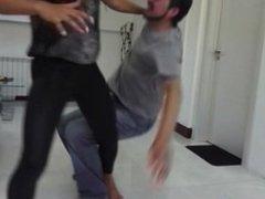 Weird Neighbour gets beaten and busted