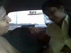Indian Wife Mehak with Husband's Friend on Highway