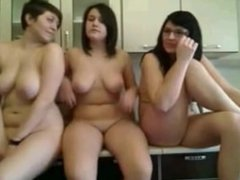 Hot And Horny Naked Girls In The Kitchen