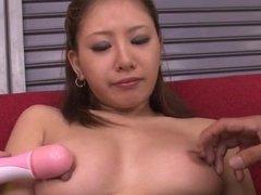 Cum on face for slutty Japanese Mariru Amamiya
